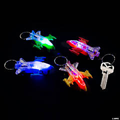 Light-Up Jet Keychains