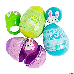 Light-Up Jewelry-Filled Plastic Easter Eggs - 12 Pc.