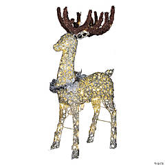 Light-Up LED Buck with Sparkle Rings Outdoor Decoration