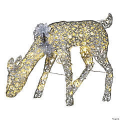 Light-Up LED Doe with Sparkle Rings Outdoor Decoration