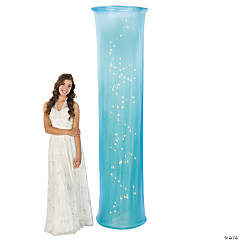 Light-Up Light Blue Fabric Column Party Light
