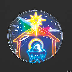 Light-Up Nativity Badges