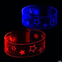 Light-Up Patriotic Magnetic Closure Bracelets