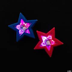 Light-Up Patriotic Star Erasers