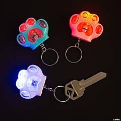 Light-Up Paw Keychains