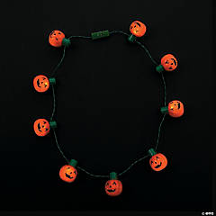 Light-Up Pumpkin Necklaces