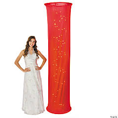 Light-Up Red Fabric Column