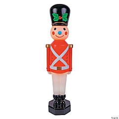 Light-Up Red Vintage Toy Soldier