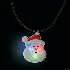 Light-Up Santa Necklaces