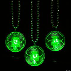 Light-Up Shamrock Beaded Necklaces