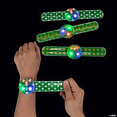 Light-Up Shamrock Slap Bracelets