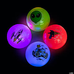 Light-Up Space Bouncy Balls
