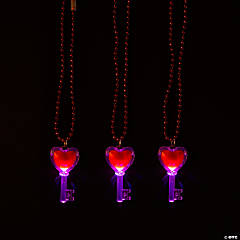 Light-Up Valentine Key Necklaces