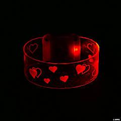 Light-Up Valentine Magnetic Closure Bracelets