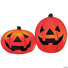 Lighted Pumpkin Set Halloween Decoration