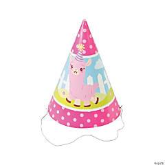 Lil' Llama Birthday Cone Hats