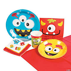 Lil' Monster Tableware Kit for 8 Guests