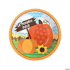 Lil' Pumpkin Paper Dinner Plates