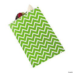 Lime Green Chevron Treat Bags