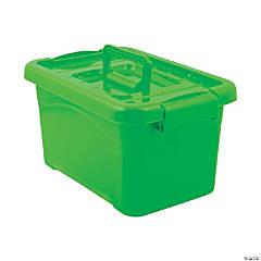 Lime Green Large Locking Storage Bins with Lids