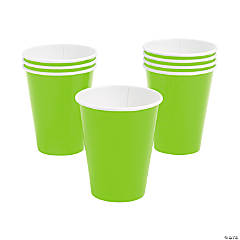 Lime Green Paper Cups - 24 Ct.