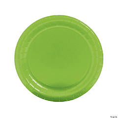 Lime Green Paper Dinner Plates - 24 Ct.