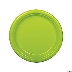 Lime Green Plastic Dinner Plates - 20 Ct.