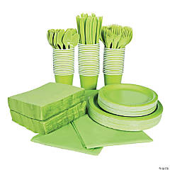 Lime Green Tableware Party Pack for 48