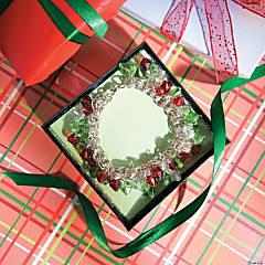 Linked Chain Christmas Crystal Bracelet Idea