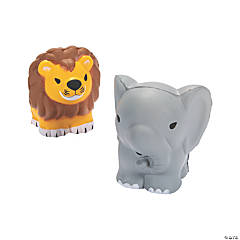 Lion & Elephant Slow-Rising Squishies