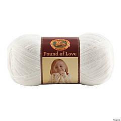 Lion Brand Pound Of Love Baby Yarn-White 16 oz