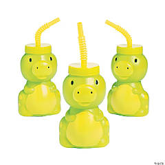 Little Dino Cups with Lids & Straws