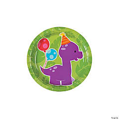 Little Dino Paper Dessert Plates - 8 Ct.
