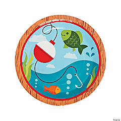 Little Fisherman Paper Dinner Plates - 8 Ct.