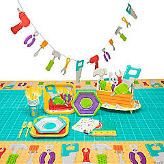 Little Handyman Party Tableware Kit for 8 Guests