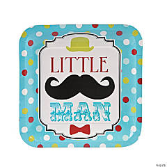 """Little Man"" Paper Dinner Plates - 8 Ct."