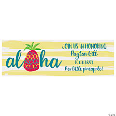 Little Pineapple Party Custom Banner - Medium