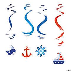 Little Sailor Hanging Swirl Decorations - 12 Pc.