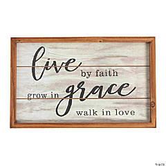 Live by Faith Wood Sign