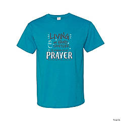 Living on Hand Sanitizer & Prayer Adult's T-Shirt - Extra Large