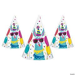Llama Birthday Cone Party Hats - 8 Pc.