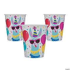 Llama Birthday Cups