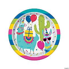Llama Birthday Dinner Plates