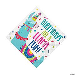 Llama Birthday Luncheon Napkins