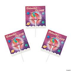 Lollipop with Outer Space Valentine's Day Card