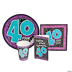 Look Who's 40 Party Tableware