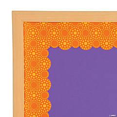 lots of dots orange bulletin board borders
