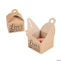 Love Donut Favor Boxes with Handle