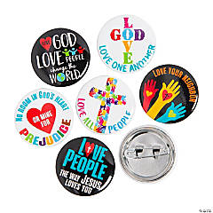 Love God Love People Mini Buttons