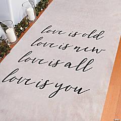 Love is Aisle Runner